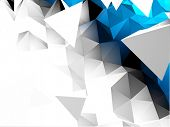 pic of triangular pyramids  - Abstract 3D Triangular Vector Background - JPG