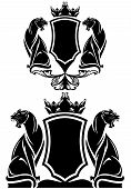 picture of panther  - black panther coat of arms emblem  - JPG