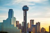 image of texas  - Dallas Texas cityscape in the morning time - JPG