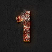 stock photo of magma  - Illustration of magma number one with sparkles - JPG