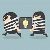 stock photo of stealing  - Illustration Cartoons concepts  Idea Stealing vector eps10 - JPG