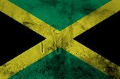 image of jamaican flag  - Grunge of Jamaica flag on old paper background - JPG