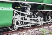stock photo of train-wheel  - Old train vintage  - JPG