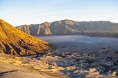 pic of bromo  - Sunrise over Bromo volcano and plateau East Java Indonesia - JPG