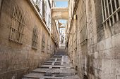 image of israel people  - Alleyway in the Old City of Jerusalem in Israel - JPG