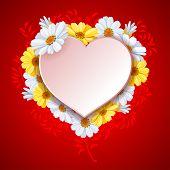 image of daisy flower  - Beautiful vector background on Valentine - JPG