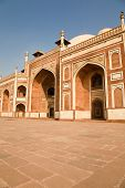picture of mughal  - The facade of Humayun - JPG