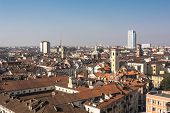 picture of turin  - An aerial view of downtown of Turin - JPG
