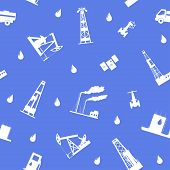 foto of petroleum  - Seamless vector illustration the oil and petroleum icon - JPG