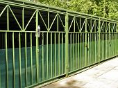 picture of rayon  - Metal construction of garages for city cars in residential area - JPG