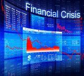 foto of stock market crash  - Financial Crisis Economic Stock Market Banking Concept - JPG
