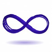 picture of mobius  - Vector illustration of a blue Infinity symbol - JPG