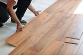pic of laminate  - Installing laminate flooring in new home indoor - JPG