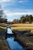 picture of suburban city  - Typical suburban American park in late January - JPG