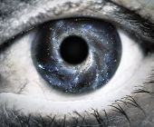 picture of moon stars  - Human eye looking in Universe - JPG