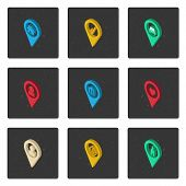 stock photo of home is where your heart is  - Set of isometric map icons for your design - JPG