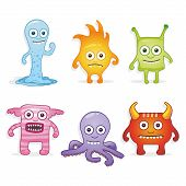 picture of monsters  - Collection of different cute monsters - JPG