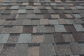 picture of shingles  - A newly installed composition asphalt shingle roof - JPG