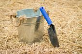 picture of spade  - spoon spade shovel and bucketgardening tools or agriculture tools - JPG