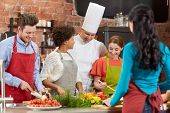 pic of food groups  - cooking class - JPG