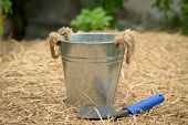 image of spade  - spoon spade shovel and bucketgardening tools or agriculture tools - JPG