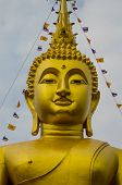 picture of budha  - The statue Budha statue in the town within Thailand - JPG