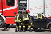 pic of firehouse  - Firefighters pull in wounded by car plates after highway crash - JPG