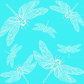 foto of dragonflies  - openwork pattern of a dragonfly on a light blue background - JPG