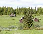 stock photo of pastures  - A shieling - JPG