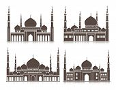 picture of ramadan mubarak  - Set of Mosque or Masjid Elements Isolated for Islamic Celebrations - JPG