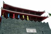 chinese tang dynasty architecture poster