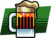 stock photo of beer mug  - Vector illustration of a stylized beer mug - JPG