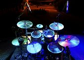 stock photo of drum-kit  - Live music and instrument - JPG