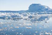 pic of iceberg  - Beautiful Icebergs in Greenland with blue Sky - JPG