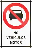 stock photo of motor vehicles  - Chilean traffic sign  - JPG