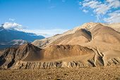 picture of mustang  - Upper Mustang mountain landscape Annapurna conservation area Nepal - JPG