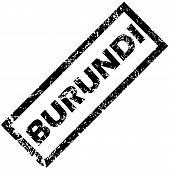 picture of burundi  - Vector rubber stamp with name BURUNDI - JPG