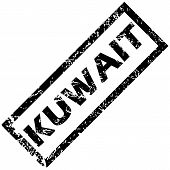 foto of kuwait  - Vector rubber stamp with name KUWAIT - JPG