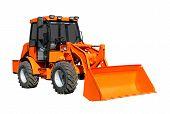 picture of wheel loader  - Orange Front - JPG
