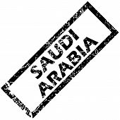 stock photo of saudi arabia  - Vector rubber stamp with name SAUDI ARABIA - JPG