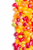 pic of jelly beans  - jelly beans on white background - JPG