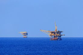 picture of production  - Two Offshore Production Platforms For Oil and Gas Production