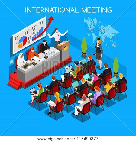 Business Meeting People Isometric