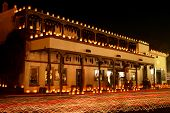 image of luminaria  - christmas eve luminarias in old town albuquerque nm - JPG