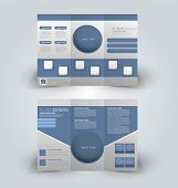 Flyer template. Business brochure. Editable A4 poster. poster