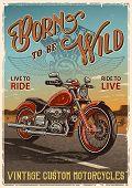 Постер, плакат: Vintage motorcycle poster