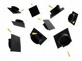 stock photo of graduation cap  - graduation cap isolated on a white background - JPG