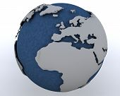 Globe Showing North Africa And Europe poster