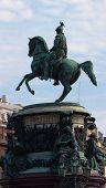 image of sankt-peterburg  - Monument to emperor Nikolay I in Sankt - JPG