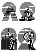 Various Famous Landmarks poster